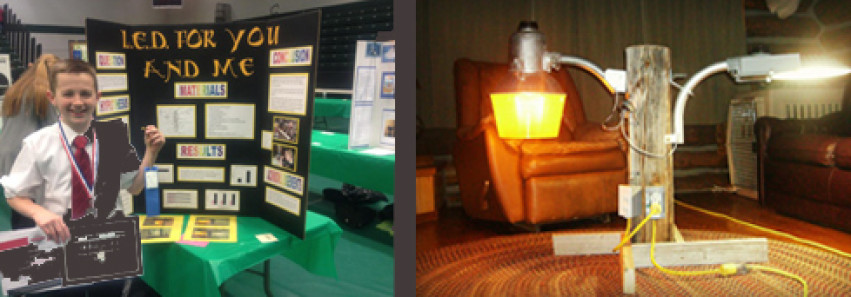 Montana School Science Fair Project Wins Award, Proves LED AreaMax Energy Efficient Victor Over HID